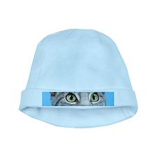 Beautiful Green Eyed Kitty Cat baby hat
