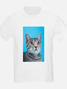 Beautiful Green Eyed Kitty Cat T-Shirt
