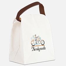 Newlyweds on Motorbike Canvas Lunch Bag