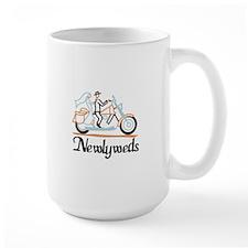 Newlyweds on Motorbike Mugs