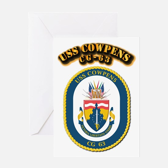 USS Cowpens (CG-63)-With Text Greeting Card