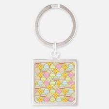 Cloned Eggs Square Keychain
