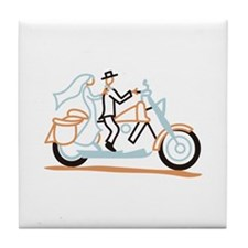 Bride and Groom Tile Coaster