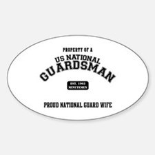 Proud National Guard Wife Oval Decal