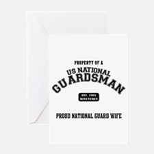 Proud National Guard Wife Greeting Card