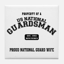 Proud National Guard Wife Tile Coaster