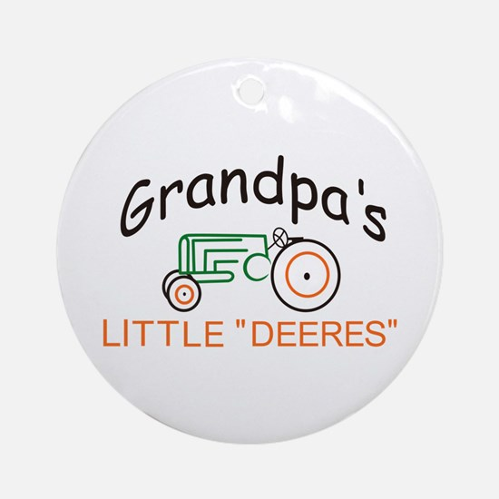 "Grandpas Little ""Deeres"" Ornament (Round"