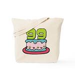 99 Year Old Birthday Cake Tote Bag