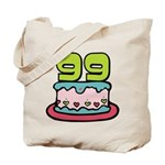 99 Year Old Birthday Cake Tote Bag
