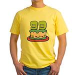 99 Year Old Birthday Cake Yellow T-Shirt