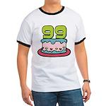 99 Year Old Birthday Cake Ringer T