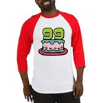99 Year Old Birthday Cake Baseball Jersey