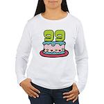 99 Year Old Birthday Cake Women's Long Sleeve Tee