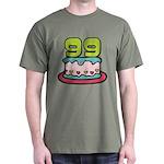 99 Year Old Birthday Cake Dark T-Shirt