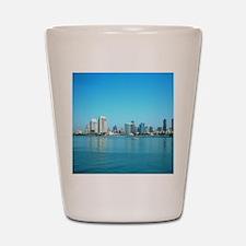 San Diego skyline Shot Glass