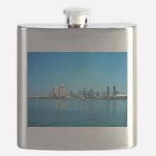 San Diego skyline Flask