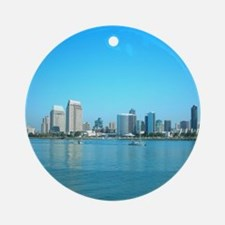 San Diego skyline Ornament (Round)