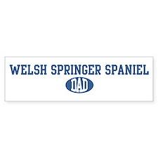 Welsh Springer Spaniel dad Bumper Bumper Sticker