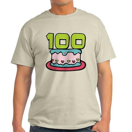 100 Year Old Birthday Cake Light T-Shirt