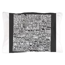 Barcelona cityscape Pillow Case