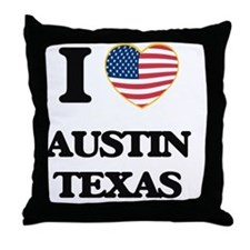 I love Austin Texas Throw Pillow