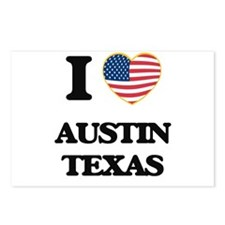 I love Austin Texas Postcards (Package of 8)