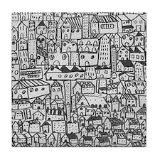 Barcelona cityscape Tile Coaster