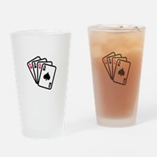Four Aces Drinking Glass