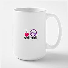 I Love Softball/Ball Mugs