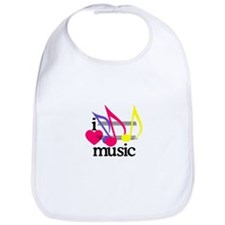 I Love Music/Notes Bib