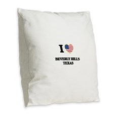 I love Beverly Hills Texas Burlap Throw Pillow