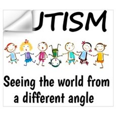 Autism...seeing the world from a different angle Wall Decal