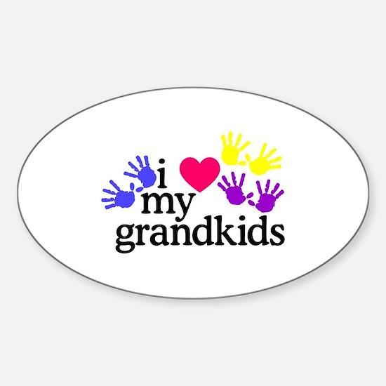 I Love My Grandkids/Hands Bumper Stickers