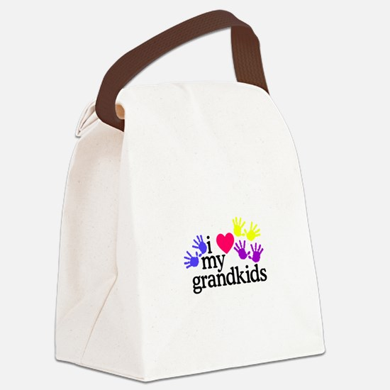 I Love My Grandkids/Hands Canvas Lunch Bag