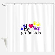 I Love My Grandkids/Hands Shower Curtain