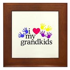 I Love My Grandkids/Hands Framed Tile