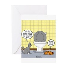 Cats and Toilets Greeting Card