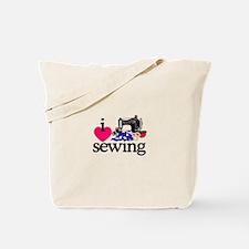 I Love Sewing/Machine Tote Bag