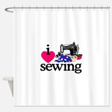 I Love Sewing/Machine Shower Curtain