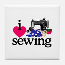 I Love Sewing/Machine Tile Coaster
