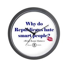 Republicans Hate Smart People Wall Clock
