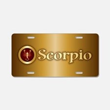Scorpio Gold Aluminum License Plate