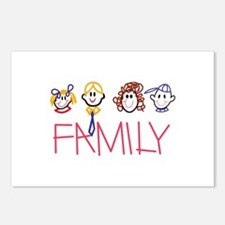 Stick Family Postcards (Package of 8)