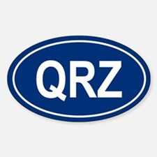 QRZ Oval Decal