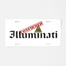Illuminati Confirmed Aluminum License Plate