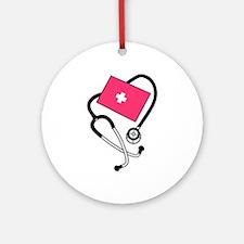 Blood Pressure Cuff Ornament (Round)