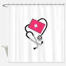 Blood Pressure Cuff Shower Curtain