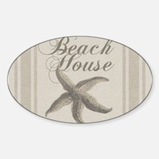 Beach House Starfish Sandy Coastal Decor Decal