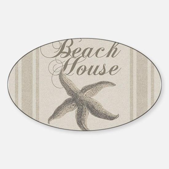Beach House Starfish Sandy Coastal Decor Decal