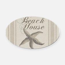 Beach House Starfish Sandy Coastal Decor Oval Car